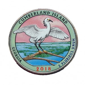 USA 25 c Cumberland Islands 2018 nr 44 kolor x 1