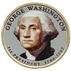 USA 1 $ George Washington 2007 nr 1 KOLOR x2