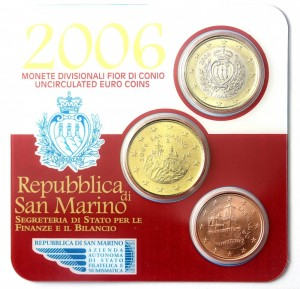San Marino mini kit 5c +50c+1euro 2006