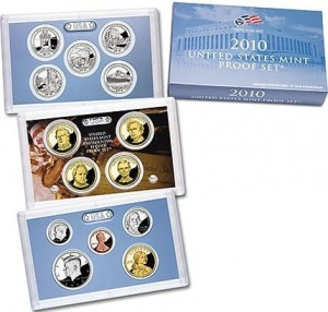 USA Proof set x 14 monet 2010