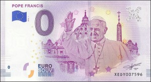 0 euro Pope Francis 2018.1