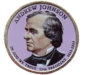 USA 1 $ Andrew Johnson 2011 nr 17 kolor x 2