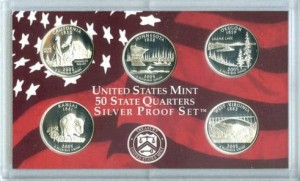 USA Proof set Ag 5 x 25 c 2005