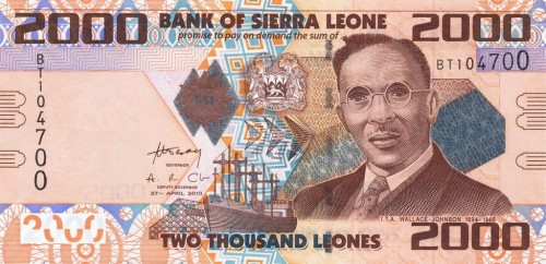 Sierra Leone 2000 leones Wallace Johnson 2010 P-31