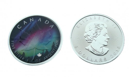 Kanada 5$ Maple Leaf Zorza Alberta 1 OZ Ag.999 2018