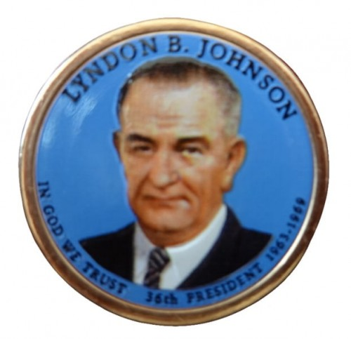 USA 1 $ Lyndon B. Johnson 2015 nr 36 kolor.jpg